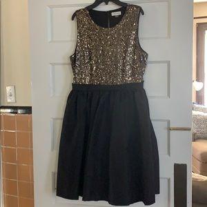 Calvin Klein sequin evening dress